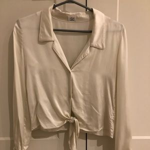 Wilfred Tie-Front Blouse